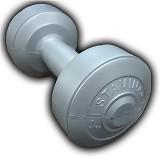 STAMINA 2x Plastic Dumbbell 1kg [ST-800-1S] - Silver - Barbell / Dumbbell